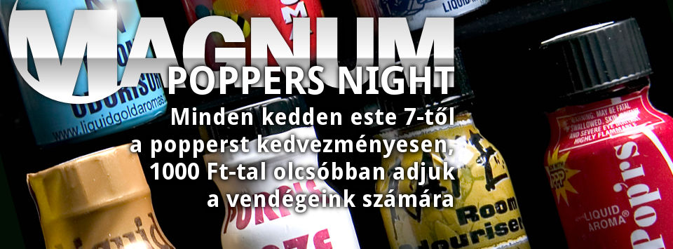 Poppers Night @ Magnum Szauna
